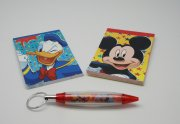 Disney Mickey pattern 2x40 page notebook with pen ( Special Price: $ 8.5)