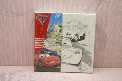 DISNEY 系列 PAPER FRAME WITH MARKERS (車王)(原價$20 特價:$7.9)